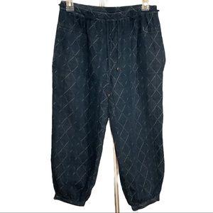 Anthropologie Hei Hei Diamonte crop pants size XS